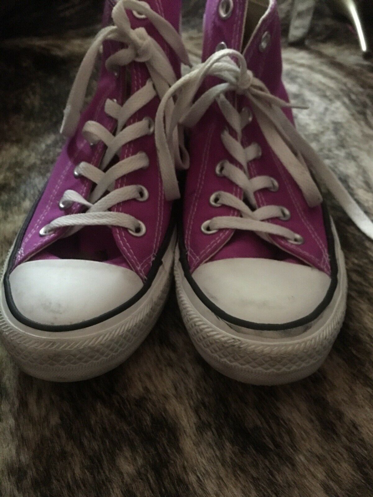 CONVERSE All Star Purple High Top Shoes Women's Size 8 Pre-Owned