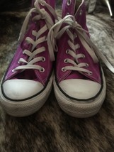 CONVERSE All Star Purple High Top Shoes Women's Size 8 Pre-Owned - $44.55