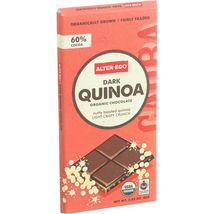 Alter Eco Americas Organic Chocolate Bar - Dark Quinoa - 2.82 oz Bars - Case of  - $51.99+