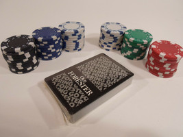 Set of 60 Poker Chips Old Forester Deck of  Playing Cards  or Replecemen... - $7.95