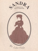 Sandra, Cedar Chalet Crochet Fashion Doll Clothing Pattern Booklet RARE ... - $5.95