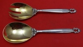 "Acorn by Georg Jensen Sterling Silver Salad Serving Set 2pc FH AS GW 9 1/4"" - $673.55"