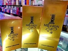 1 One Million Paco Rabanne 1.7 3.4 6.8oz 50 100 200 ml Toilette Spray Me... - $83.59+