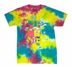 Spongebob Squarepants Patrick Sandy Squidward Mr Krab Mens Tie Dye T Shi... - $16.99