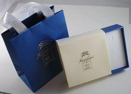 Anhänger Gold Weiß 750 18K Klee Massiv, Lang 1.7 CM, Made IN Italien image 3