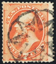 160, Used 7¢ With New York Foreign Mail Cancel Cat $85.00 - Stuart Katz - $25.00
