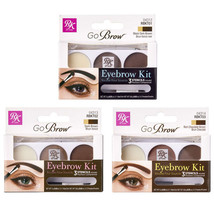 Ruby Kisses Go Brow Eyebrow Kit with 3 Stencils Brush Makeup *Pick 1 Color - $5.99