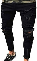REPPUNK Men's Casual Distressed Patched Ripped Slim Fitted Skinny Denim ... - $59.93+