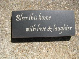 31433BTH-Bless This House Wood Block - $3.95