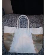 Jimmy Choo Parfums large tote shopper bag white & gold pvc NEW - $27.00