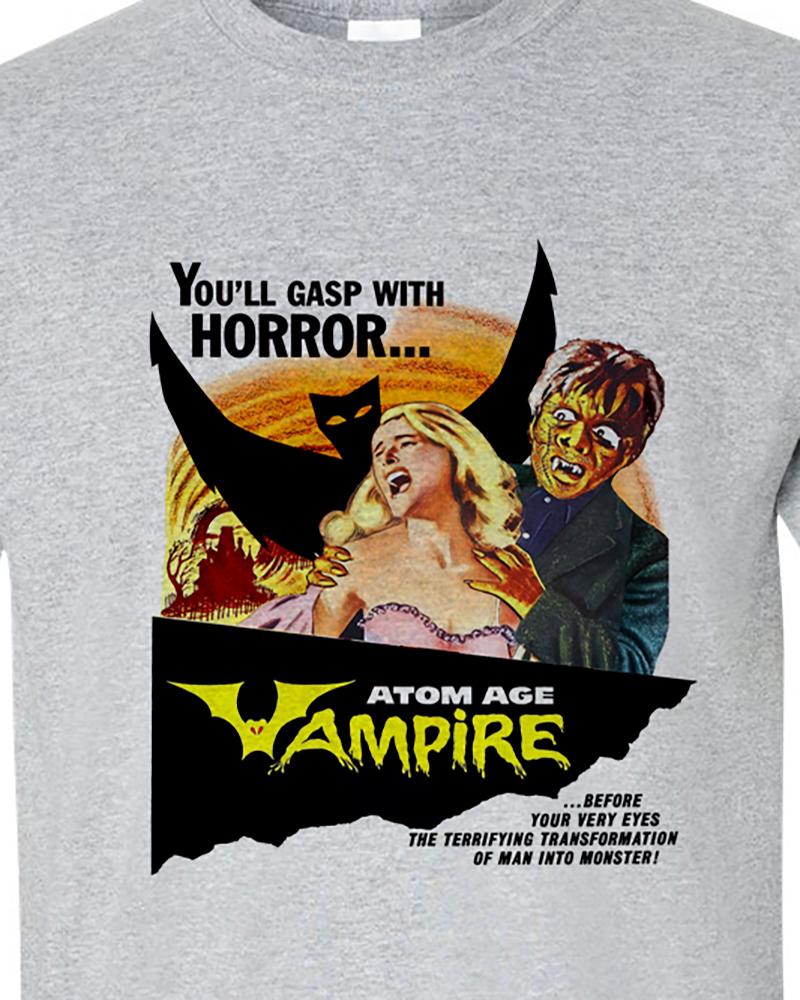 Ro movie hammer films horror sci fi nostalgic monster movie tee shirt for sale online store gray