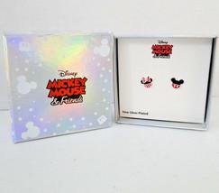 Disney Mickey & Minnie Mouse Enamel Pierced Earrings image 2