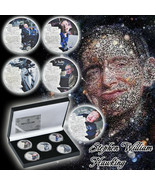 WR 5pcs 2018 Stephen Hawking Silver Plated Commemorative Coin For Collec... - $16.20