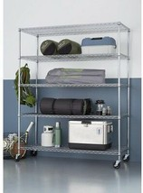 TRINITY 5-Tier Heavy Duty Wire 60 in. x 24 in. x 72 in. Shelving Rack w... - $339.30