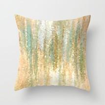 Throw Pillow Case Cushion Cover Made in USA Design 30 green peach L.Dumas - $29.99+
