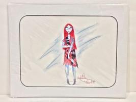 Disney Parks Nightmare Before Christmas Sally Artist Signed Sketch Matte... - $102.28