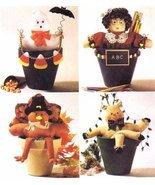 Flower Pot Pals Ghost Teacher Turkey Reindeer McCalls 2334 Sewing Pattern - $8.79