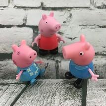 Nick Jr Peppa Pig And Georgie Figures Lot Of 3 Cake Topper Cartoon Toys Jazwares - $11.88