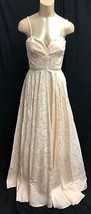 NEW BCBG Max Azaria ATELIER Dress maxi Bridal GOWN Brass Ivory Puffy  *4... - $429.74