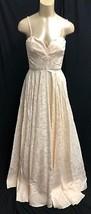 New Bcbg Max Azaria Atelier Dress Maxi Bridal Gown Brass Ivory Puffy *4 (#A63) - $429.74