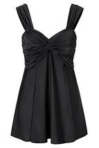 Lemonfish Women Underwire Tankini Swimsuit Plus Size, Halter Front Bow T... - $25.94