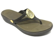 Crocs Womens Brown Open Front Wedge Slippers Comfort Shoes Sandals Size 7 - $19.79