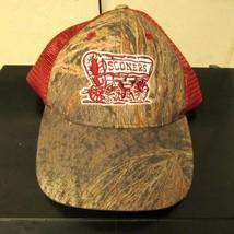 Oklahoma Sooners NCAA University Softshell Camo Hat Cap Red Snapback One Size - $9.89