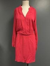 SPLENDID Red Pink Long Sleeve Above Knee Shirt ... - $41.58