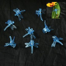 (10 Pack) Blue Plastic Dragonfly Clips by Sophie's Orchids - $7.25