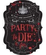 Dark Manor Haunted House Carnival Halloween Party Invitations w/Envelopes - $13.66