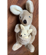 "1985 Dakin VINTAGE Kora KANGAROO with BABY Joey 8"" Plush Stuffed Nature ... - $18.69"