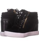 Aldo Kaia Hidden Wedge Fashion Sneakers 389, Black, 6.5 US / 37 EU - $33.59