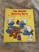Vintage Schlumpf Activity Book 1983 Softcover Peyo Rare - $9.85