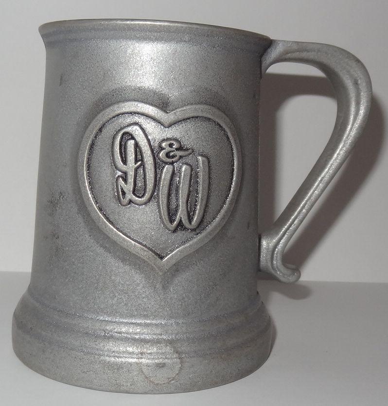 12oz NEW** MUG PEWTER EMBLEM BLACK CROSS CERAMIC COFFEE CUP