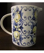 VILLEROY & BOCH CADIZ SEPTFONTAINES LUXEMBORG PITCHER blue yellow white ... - $36.58