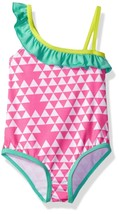 Pink Platinum Baby Girls' Inf Triangle Print One Piece Swimsuit, Pink, 18M - $24.54