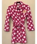 Disney Princess Girls Large 10/12 Polka Dot Pink and White Bath Robe - $9.89