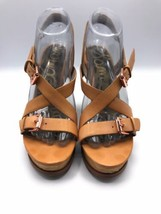 Sam Edelman Size 9.5 Josie Wedge Strappy Sandal With Rose Gold Buckles - $37.99