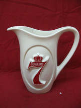 Vintage Ceramic Seagram's 7 Crown Whiskey Water Bar Pub Pitcher - $24.74