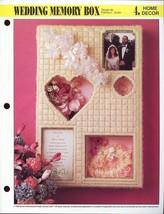 Wedding Memory Box Annie's Plastic Canvas Pattern Leaflet NEW RARE HTF - $3.57