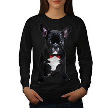 Fancy French Bulldog Jumper Black Code Women Sweatshirt - $18.99