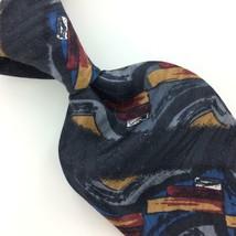 """XL 64"""" ZYLOS GEORGE MACHADO TIE ABSTRACT Deco BLACK Gold Silk Necktie I7... - $16.82"""