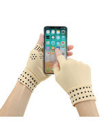 1Pair Magnetic Therapy Fingerless Gloves Arthritis Pain Relief Heal Jo - £13.10 GBP