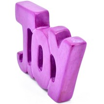 Vaneal Group Hand Carved Soapstone Fuchsia Pink JOY Free-Standing Word Sign image 2