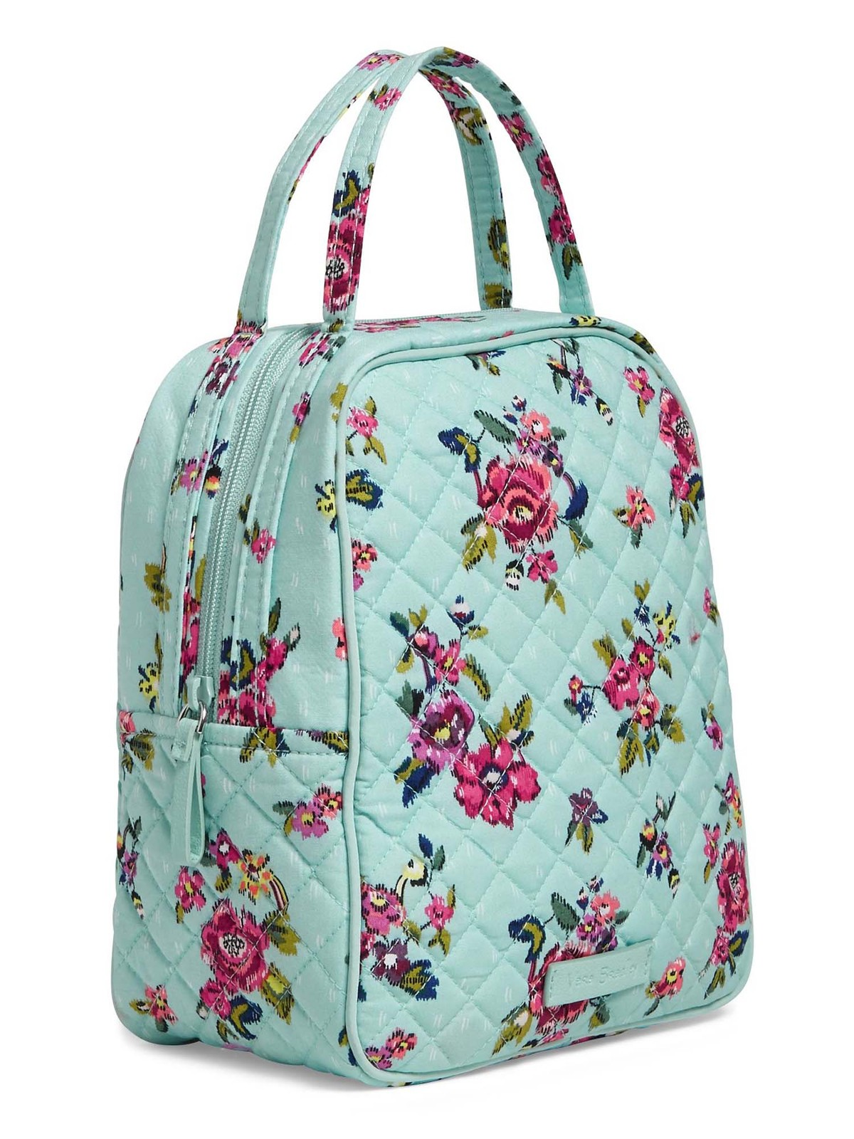 Vera Bradley Quilted Signature Cotton Iconic Lunch Bunch Bag, Water Bouquet