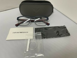Emporio Armani EA1098 3003 Matte Blue Rx Eyeglass Frames 55-18-145 Brand New - $77.39