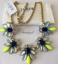 NWT Authentic J CREW Crystal watchbird necklace dark cove & J CREW BAG - $43.99