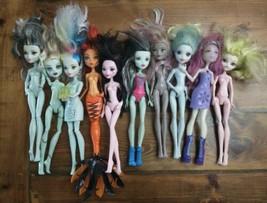 Monster High Doll Lot 10 Batsy D'Kay Moanica Claro Draculaura, Cleo, Ope... - $79.15