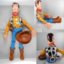 """Cuddly Disney Toy Story 3 Movie Plush Cowboy Woody 18"""" Tall Soft Doll - $19.79"""