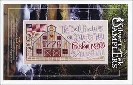 Freedom Reigns patriotic cross stitch chart Silver Creek Samplers - $9.90
